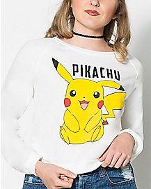 Pikachu Cropped Sweatshirt -  Pokemon