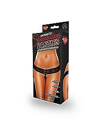 Pearl Stimulating Crotchless Thong Panties - Hustler