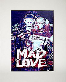 Mad Love Suicide Squad Wall Art