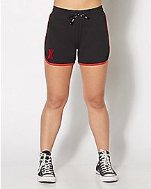 Black Widow Symbol Work Out Shorts - Marvel Comics