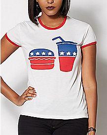Vote Burger and Shake T Shirt