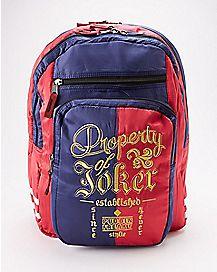 Property Of Joker Harley Quinn Backpack