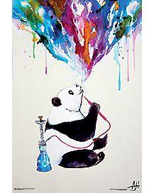 Smoking Panda Poster