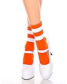 Striped Ankle Socks - Orange