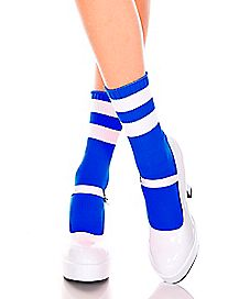 Blue Striped Ankle Socks