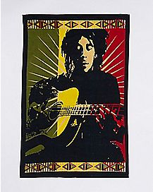 Bob Marley Guitar Tapestry