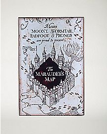 The Marauders Map Harry Potter Wood Sign