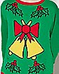 Adult Singing Light Up Bell Ugly Christmas Sweater