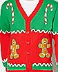 Adult Gingerbread Ugly Christmas Sweater Cardigan