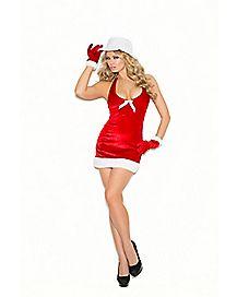 Naughty Santa Dress Set