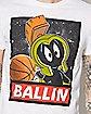 Marvin The Martian Ballin Looney Tunes T Shirt
