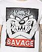 Taz Savage Looney Tunes T Shirt