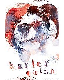Harley Quinn Skull Poster
