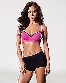 Criss Cross Back Push Up Sports Bra