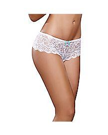 Crotchless Lace Boyshort Panties