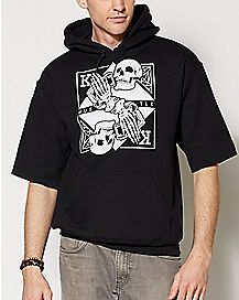 King of Skulls Short Sleeve Hoodie