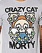Crazy Cat Morty T Shirt - Rick and Morty
