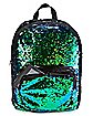 Black and Green Magic Sequin Backpack