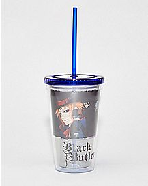 Black Butler Cup With Straw - 16 oz