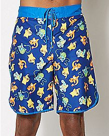 Character Pokemon Board Shorts