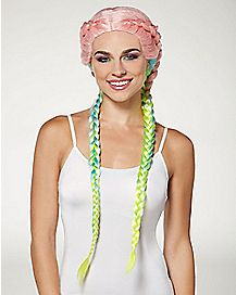 Rainbow Braided Wig