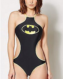 High Neck Batman Monokini Swimsuit - DC Comics