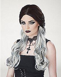 Black and Gray Morbid Mistress Wig