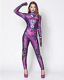 Adult Pink Ranger Bodysuit Costume - Power Rangers