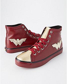 High Top Wonder Woman Sneakers