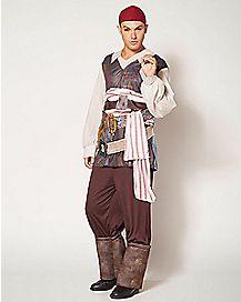 Adult Classic Captain Jack Costume - Pirates of the Caribbean
