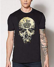 Skull Jack Sparrow T Shirt - Pirates of the Caribbean