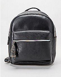Iridescent Zipper Backpack