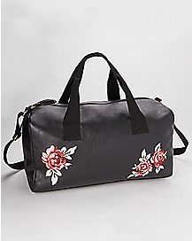 Black Rose Mini Duffel Bag