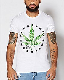 Pot Leaf Mac Miller T Shirt