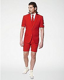 Adult Red Devil Summer Suit