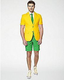 Adult Green and Gold Summer Suit