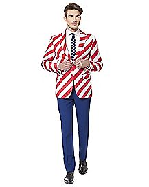 Adult United Stripes 4th of July Suit