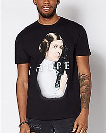 Hope Princess Leia T Shirt