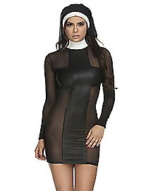 Sexy Nun Dress Set