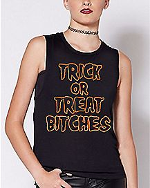Trick Or Treat Bitches Tank Top