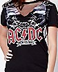Mesh High Voltage ACDC T Shirt