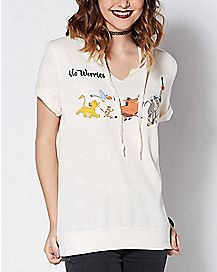 Tie Neck No Worries Lion King T Shirt - Disney