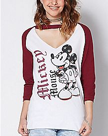 Choker Mickey Mouse T Shirt - Disney