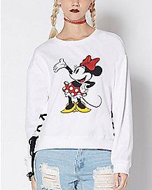 Tie Minnie Mouse Sweatshirt - Disney