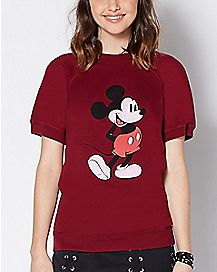 Short Sleeve Mickey Mouse Sweatshirt - Disney