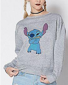 Angry Stitch Sweatshirt - Disney