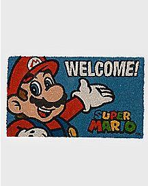 Welcome Mario Doormat - Nintendo