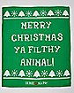 Merry Christmas Ya Filthy Animal Fleece Blanket - Home Alone