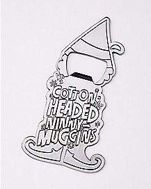 Cotton Headed Ninny-Muggins Bottle Opener - Elf