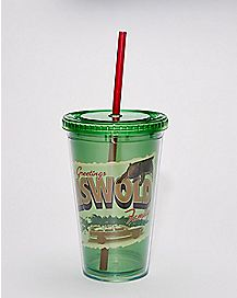 National Lampoon's Christmas Vacation Cup With Straw - 16 oz.